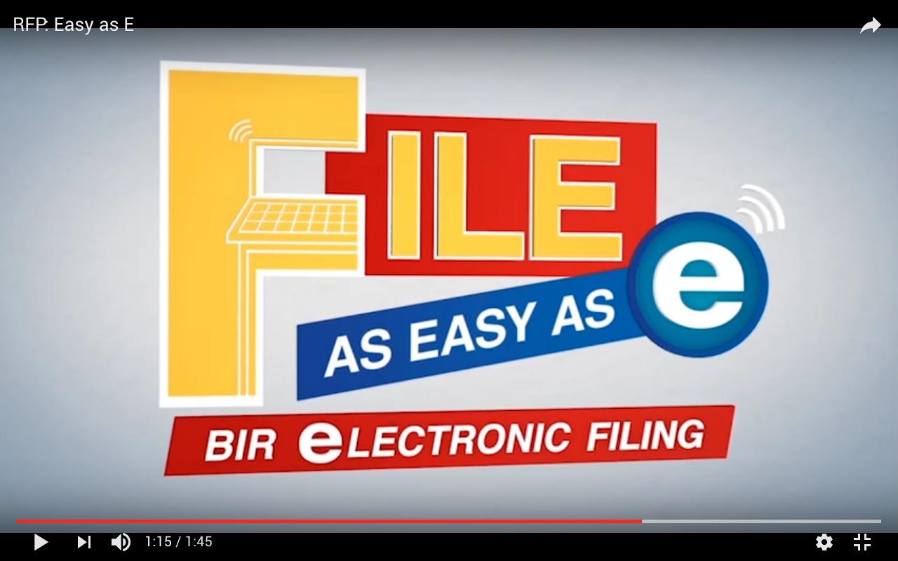 BIR Electronic Filing